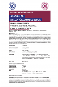 Journal of Anadolu Bil Vocational School of Higher Education